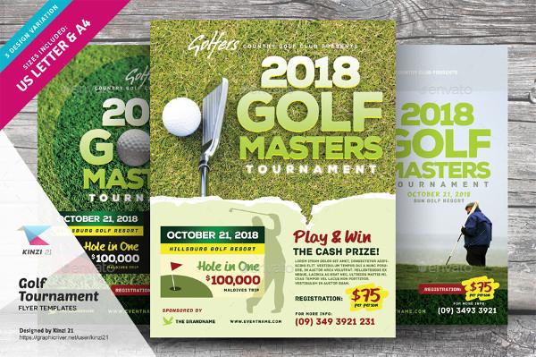 Golf Masters Tournament Flyer Templates