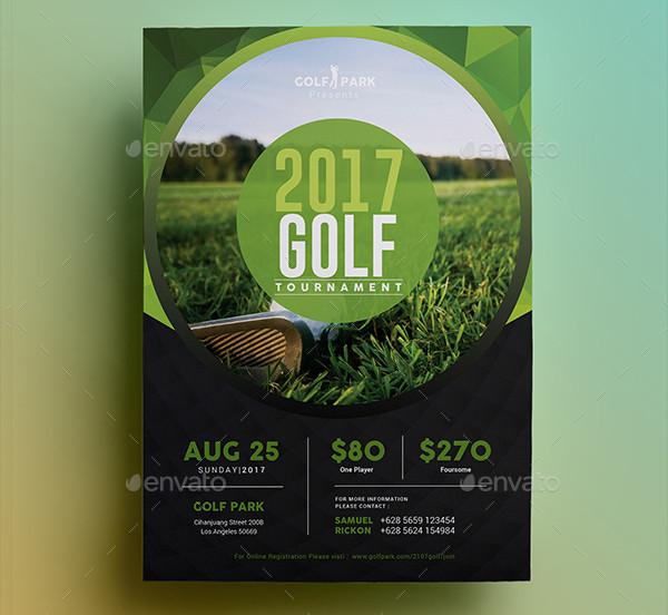 Golf Tournament Simple Flyer