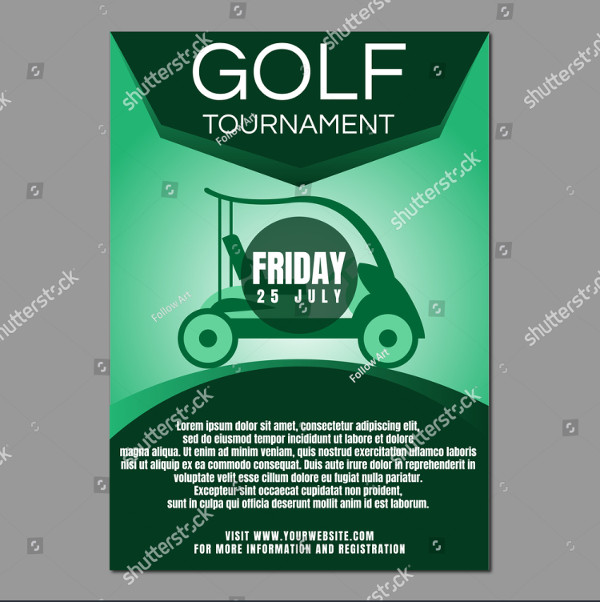 Golf Tournament Poster or Flyer Template