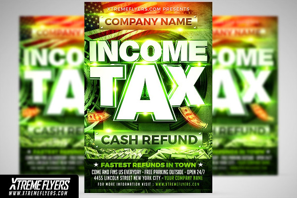 Printable Income Tax Flyer Template