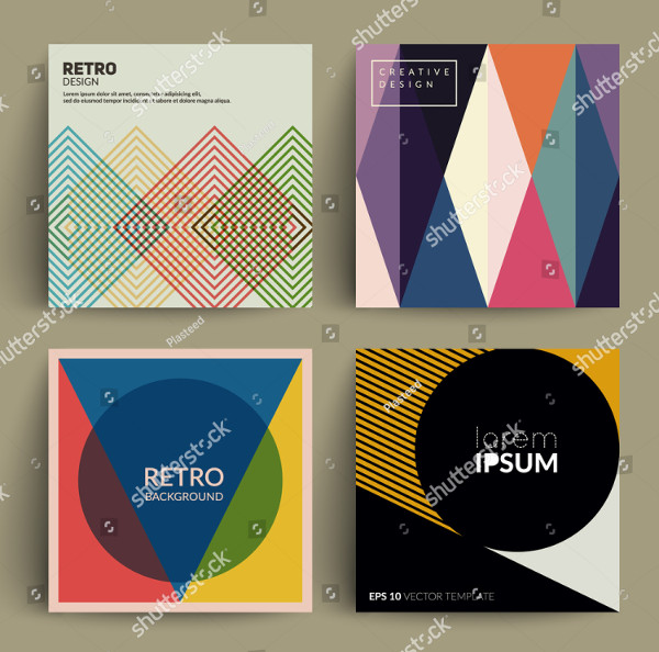 Retro Album Cover Templates Set