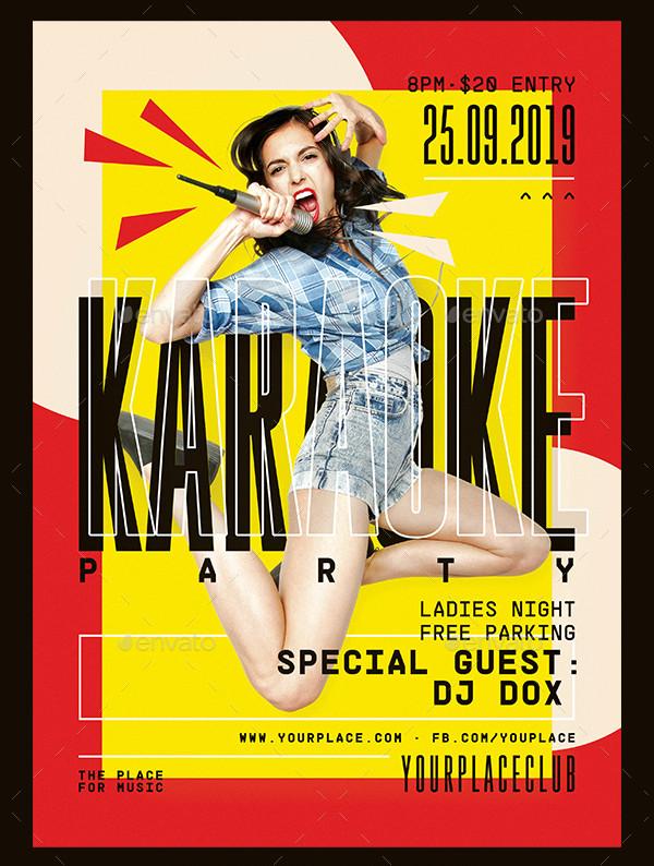Grunge Karaoke Party Flyer