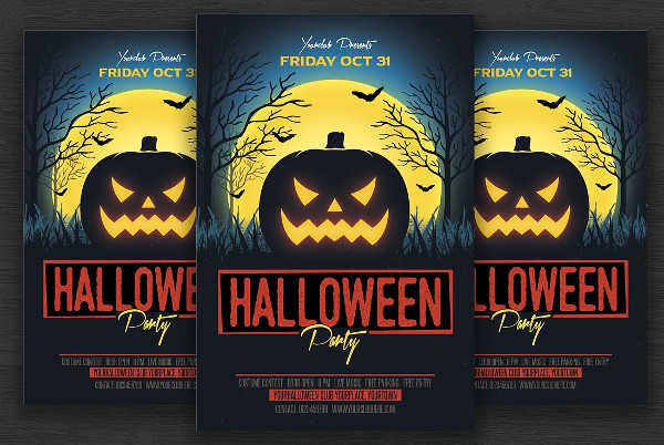 Halloween Invitation Flyer Template