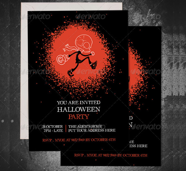 Halloween Club Invitation Template