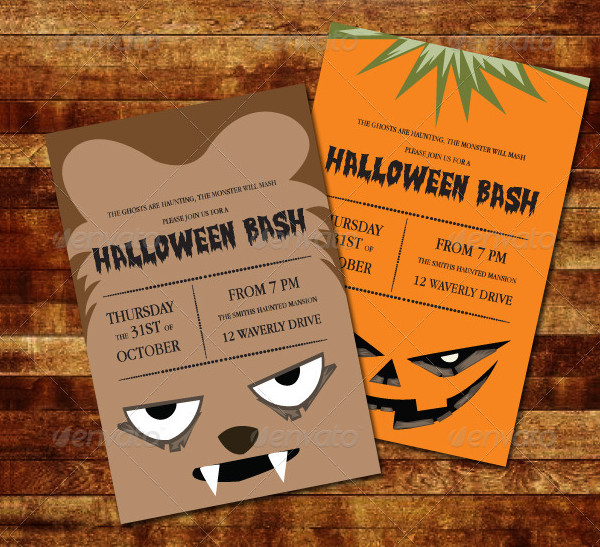Big Halloween Invitations Bundle