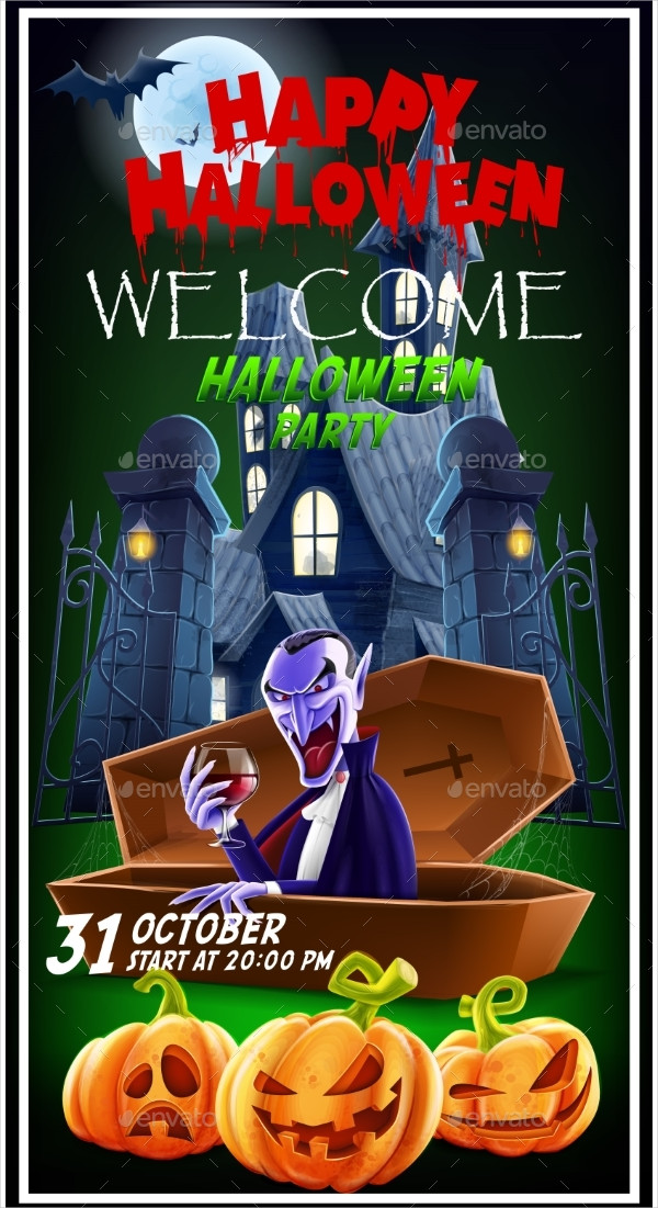 Halloween Invitation Flyer For a Party