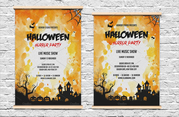 Scary Halloween Invitation Flyer