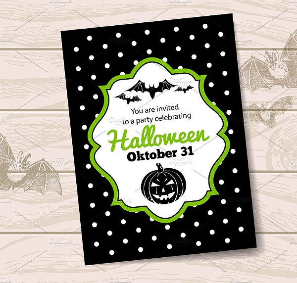 Vector Set of Halloween Invitations