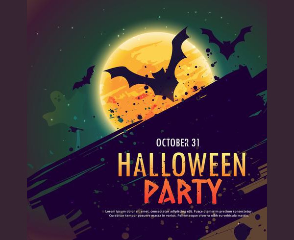 Halloween Party Invitation Background Free