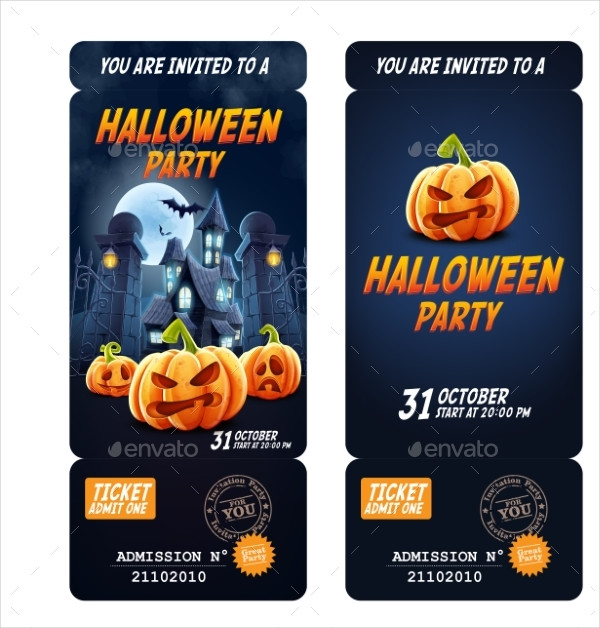 Custom Halloween Party Invitation Flyer