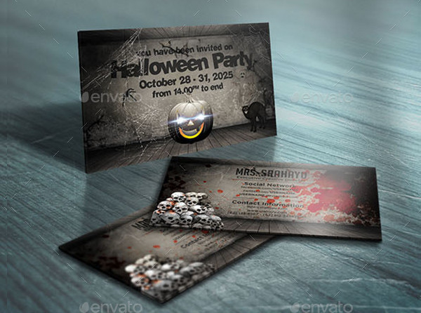 Unique Halloween Invitation Card Template