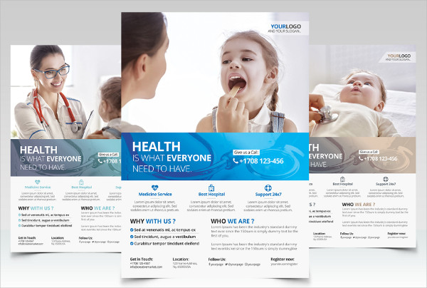 Health and Medical PSD Flyer Template