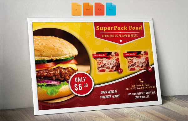 Flyer Fast Food Horizontal