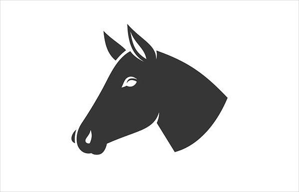 Horse Head Icon Logo Set