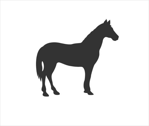 Horse Silhouette Vector Icon