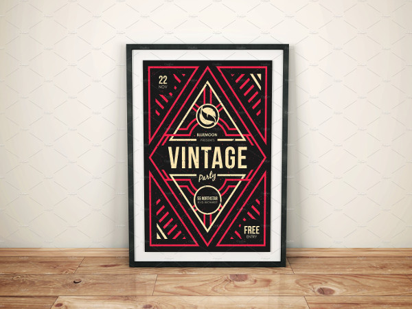 Illustrated Vintage Party Poster Design