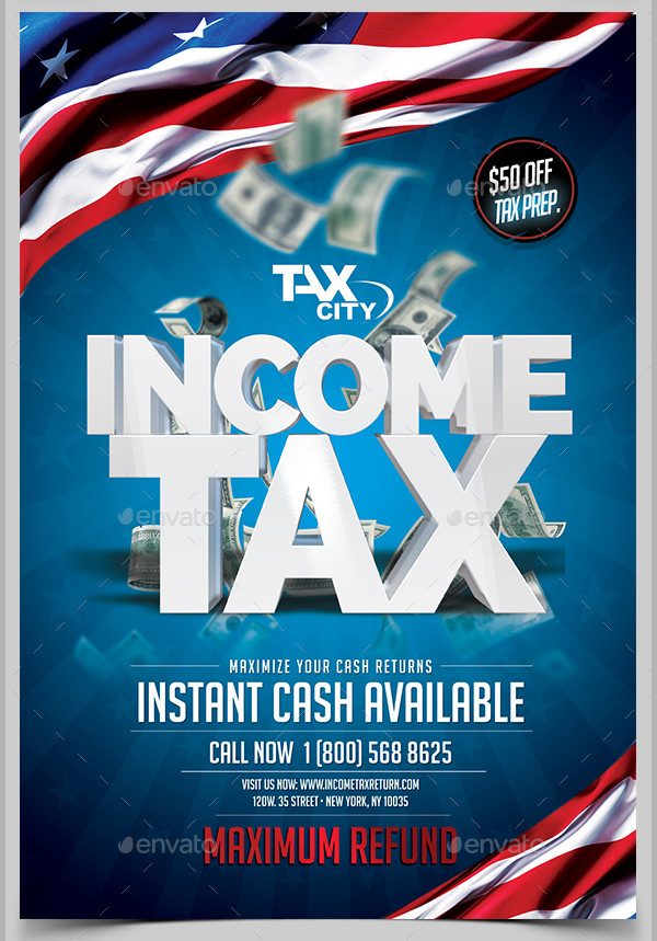 PSD Income Tax Return Flyer Template