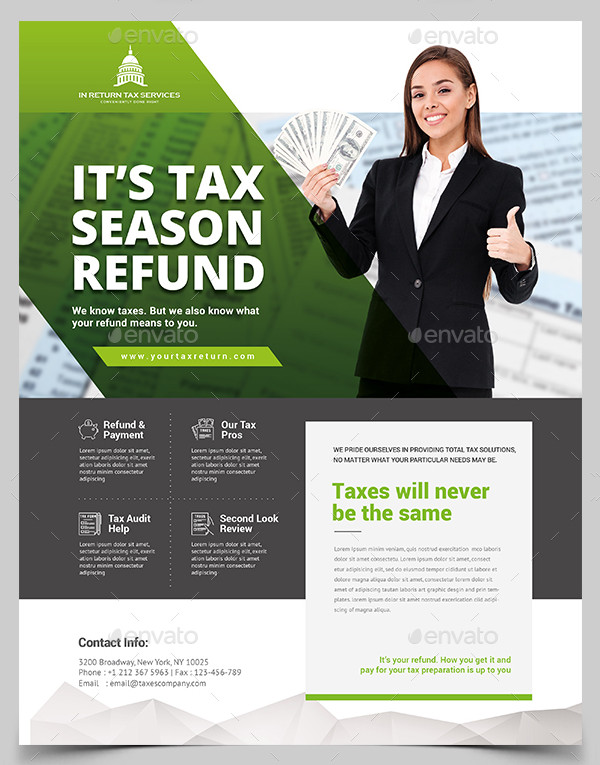 27  income tax flyer templates