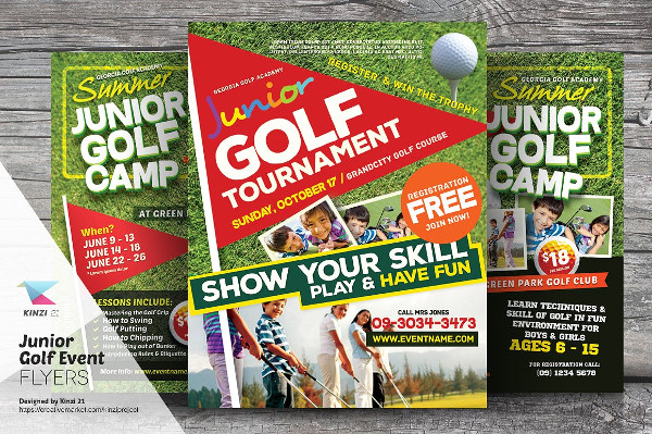Junior Golf Event Flyer Templates
