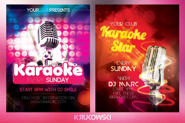 Karaoke Entertainment Flyers Bundle