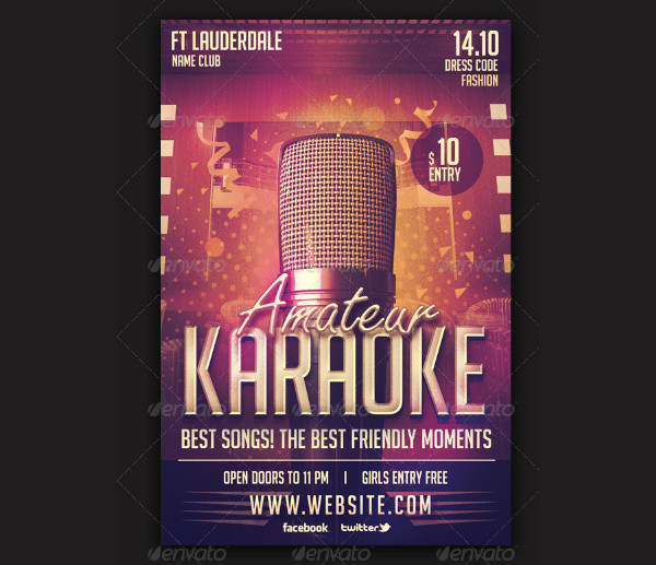 Karaoke Party Carnival Flyer