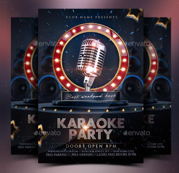 Karaoke Vintage Party Flyer