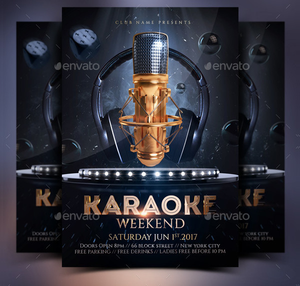 Karaoke Weekend Party Invitation Flyer