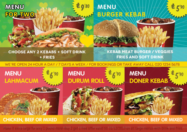 Kebab & Fast Food Shop Flyer Template