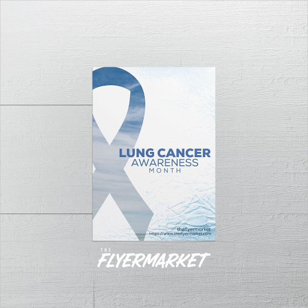 Lung Cancer Awareness PSD Flyer Template