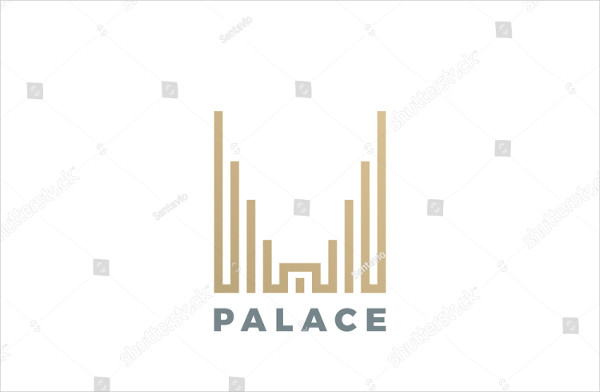 Luxury Hotel Palace Logo design vector template