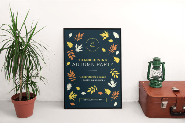Modern Autumn Party Posters
