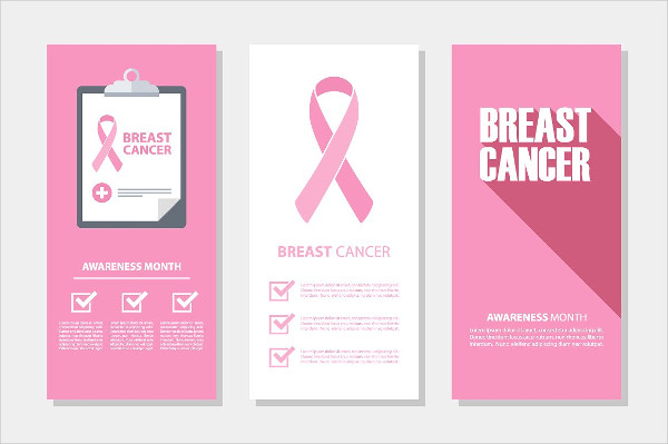 Modern Breast Cancer Flyers Set