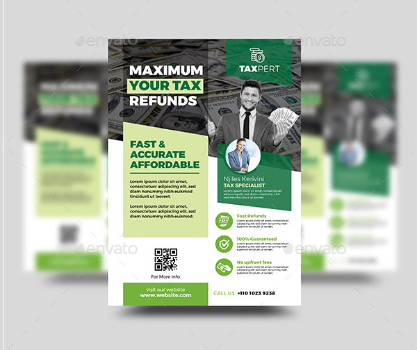 Modern Tax Refund Flyer Design