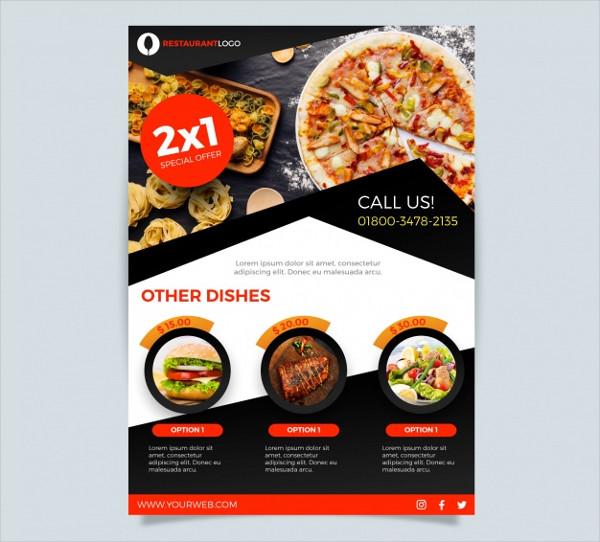 Modern Pizza Restaurant Flyer Template Free