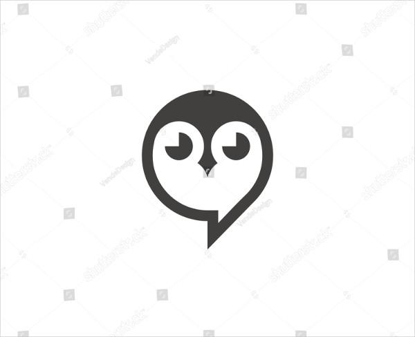 Owl Cartoon Logo Template