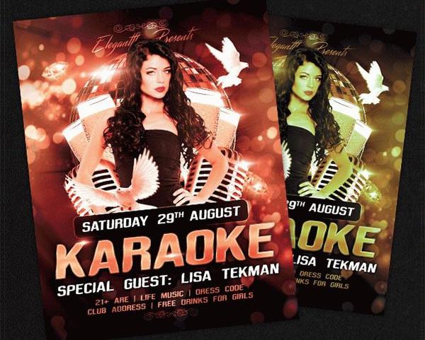 Free PSD Karaoke Flyer Template