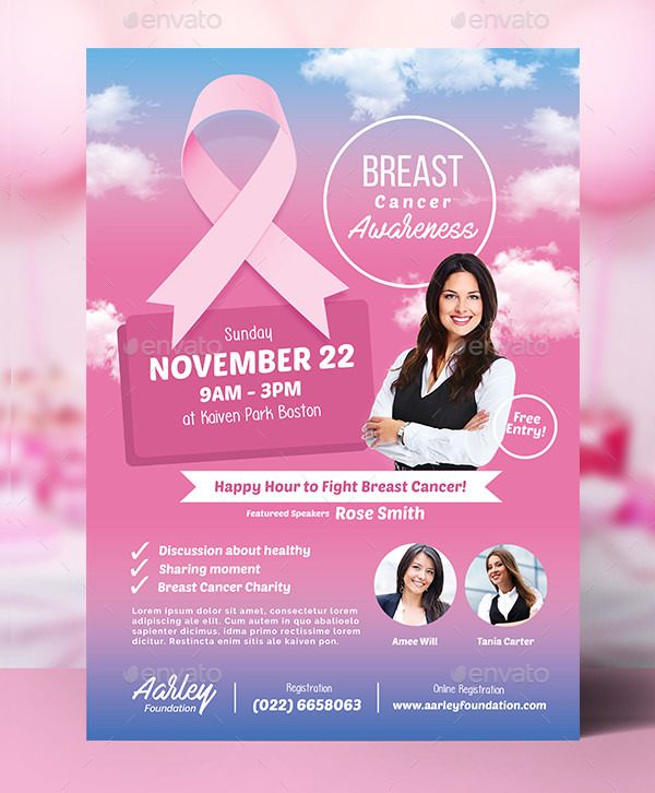 Editable Breast Cancer Awareness Center Flyer
