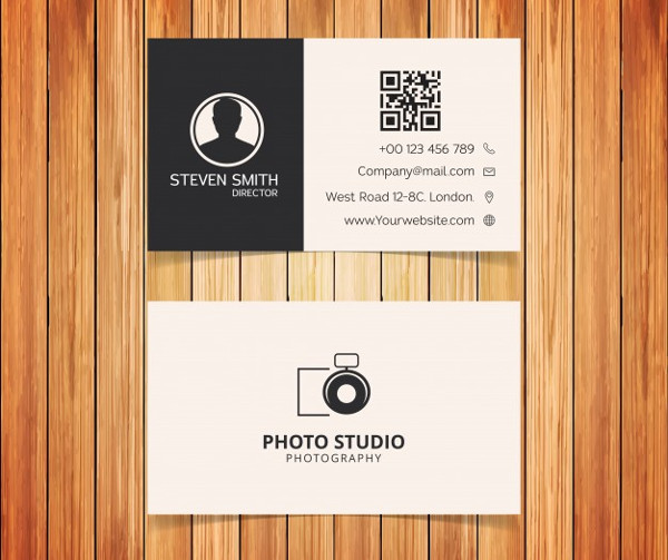 Photo Studio Typography Business Cards Free Download