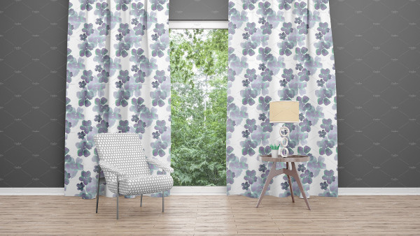 Premium Slide Curtains Mockup