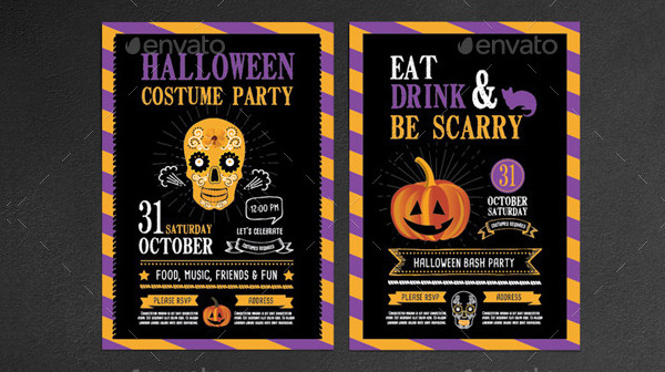 Editable Halloween Costume Invitation Template