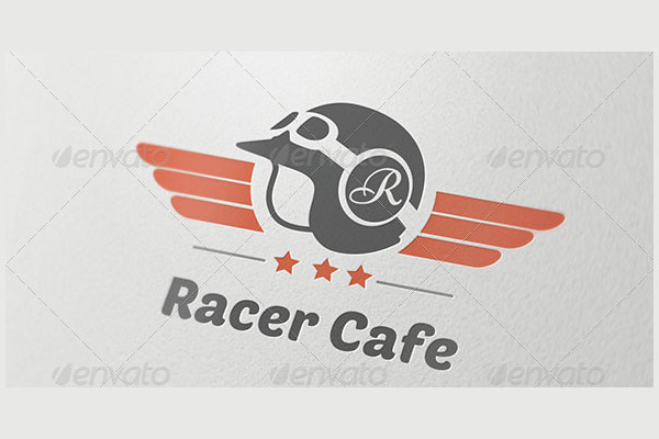 Racer Cafe Logo Template