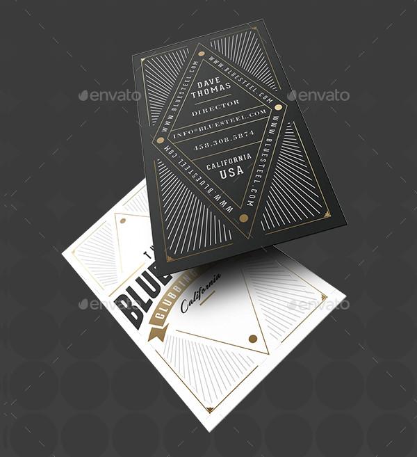 Retro Typography Business Cards Design