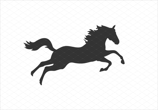 Running Horse Silhouette Icon