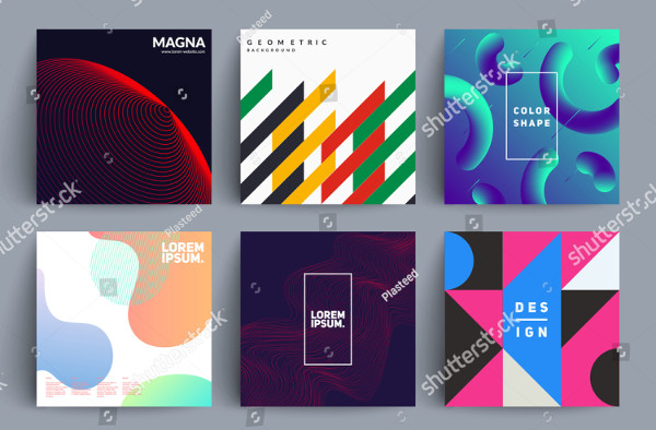 Set of Album Cover Templates