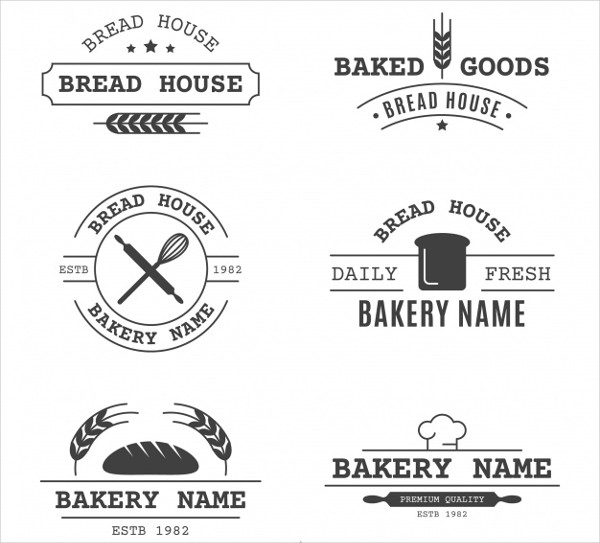 Set of Bakery Logos in Vintage Style Free