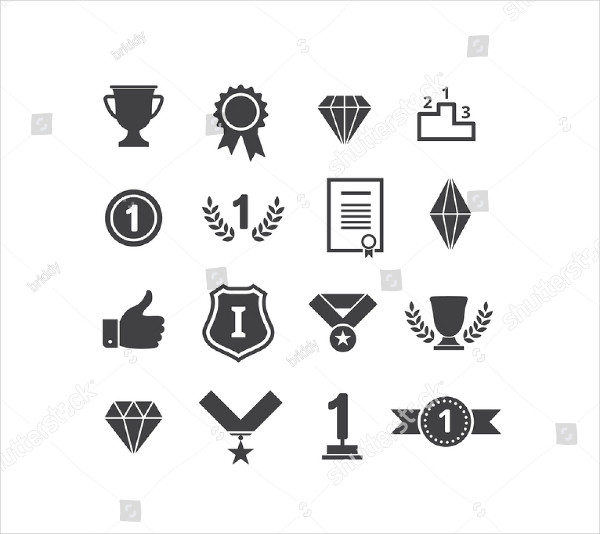 Awards Icons Vector Set