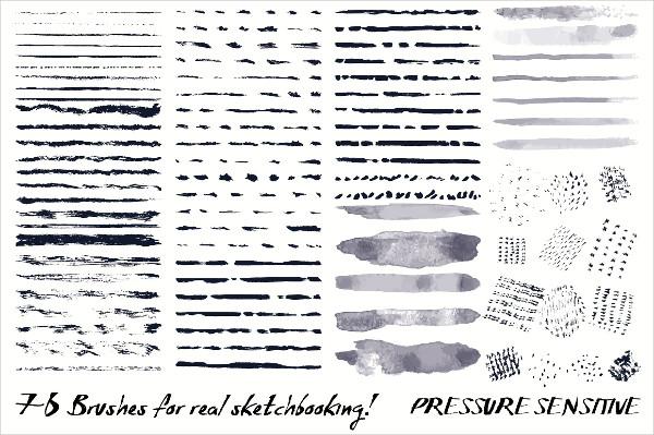 Sketchbook Brushes for Illustrator