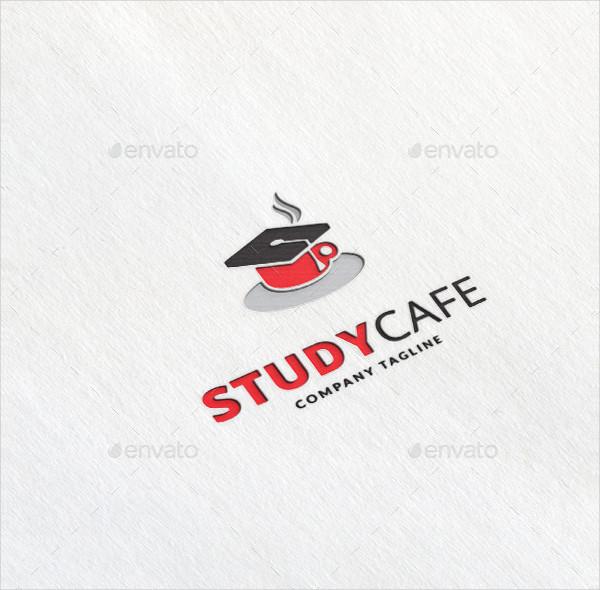 Study Cafe Company Logo Template