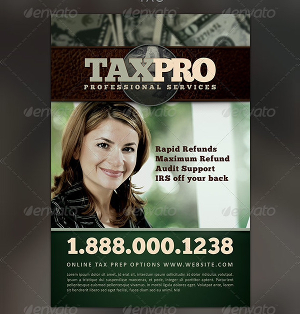 Tax Pro Flyer and Business Card Template