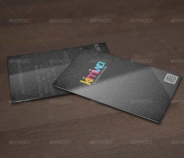 Typography Design Business Card Template